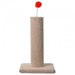 Classy Kitty Carpeted Cat Post with Spring Toy Image