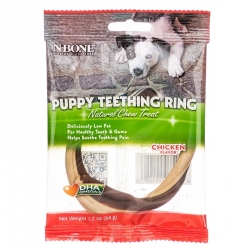 N-Bone Puppy Teething Ring - Chicken Flavor Image
