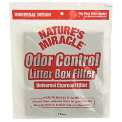Nature's Miracle Odor Control Litter Box Universal Charcoal Filter Image