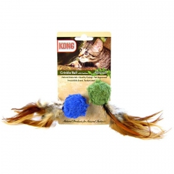Kong Crinkle Ball with Feathers Cat Toy Image