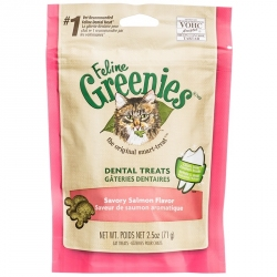 Feline Greenies Dental Treats for Cats - Savory Salmon Flavor Image