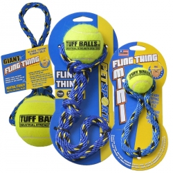 Petsport Tuff Ball Fling Thing Dog Toy Image