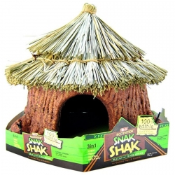 Ecotrition Snak Shak Edible Natural Hide Away Hut for Small Pets Image