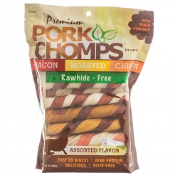 Premium Pork Chomps - Assorted Flavor Porkskin Twists Image