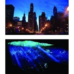 GloFish Aquarium Background - Cave & Cityscape Image
