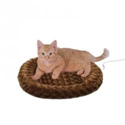 K&H Thermo-Kitty Fashion Splash Pet Bed - Mocha Image