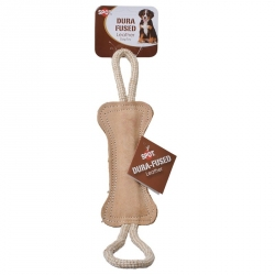 Spot Dura Fused Leather Dog Toy - Bone Tug Image