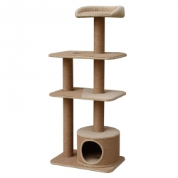 Pet Pals Four Level Recycled Paper Cat Playhouse with Condo Image