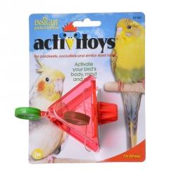 JW Insight Tilt Wheel Bird Toy Image