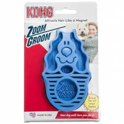 Kong Zoom Groom Brush for Dogs - Boysenberry Image