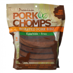 Pork Chomps Ribz Pork Skin Dog Treats - Pig Earz 10 Count Image
