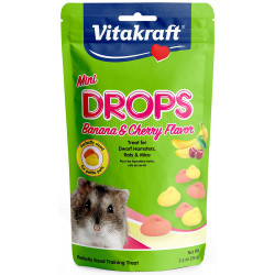 Vitakraft Mini Drops Treat for Hamsters, Rats and Mice - Banana and Cherry Flavor Image