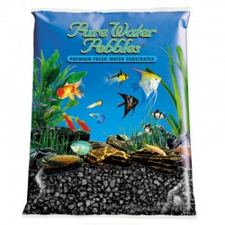 Pure Water Pebbles Aquarium Gravel - Jet Black Image