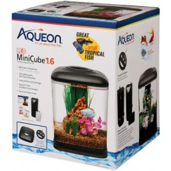 Aqueon Mini Cube LED Aquarium Kit - Black Image