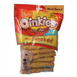 Hartz Oinkies Pig Skin Twists - Real Smoked Flavor Image