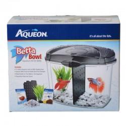 Aqueon Betta Bowl Starter Aquarium Kit - Black Image