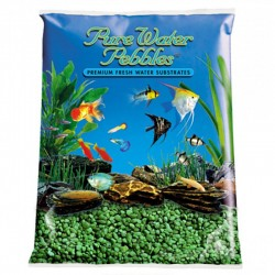 Pure Water Pebbles Aquarium Gravel - Emerald Green Image