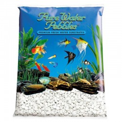 Pure Water Pebbles Aquarium Gravel - Snow White Image
