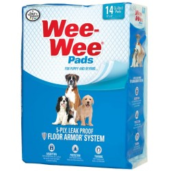 Four Paws Pee-Pee Odor Control Pads with Febreze Freshness Image