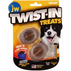JW Pet Twist-In Treats Bacon Flavored Treat Dispensing Dog Toy  Image
