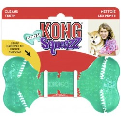 KONG Squeezz Dental Bone Dog Toy Medium Image