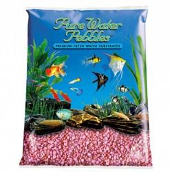 Pure Water Pebbles Aquarium Gravel - Neon Pink Image