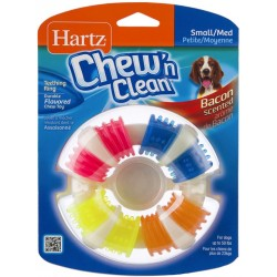 Hartz Chew N ' Clean Bacon Scented Teething Ring Dog Toy  Image