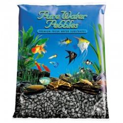 Pure Water Pebbles Aquarium Gravel - Black Frost Image