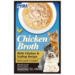 Inaba Chicken Broth with Chicken and Scallop Recipe Side Dish for Cats Image