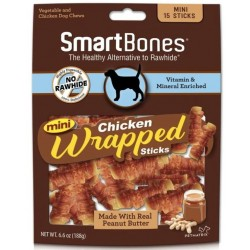 SmartBones Mini Chicken Wrapped Peanut Butter Sicks Rawhide Free Dog Chew Image