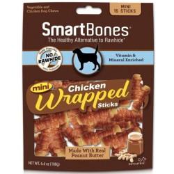 SmartBones Mini Chicken Wrapped Peanut Butter Sicks Rawhide Free Dog Chew Image