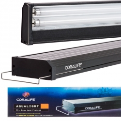 Coralife Aqualight T5 Dual Fluorescent Lamp Fixture - Saltwater Aquariums Image