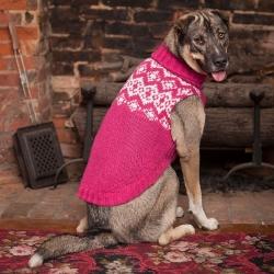 Fashion Pet Soft Fair Isle Dog Sweater - Pink Image
