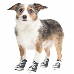 Lookin' Good Sparkle Denim Canvas Dog Sneaker Image