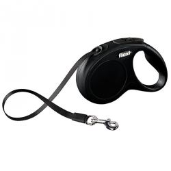 Flexi New Classic Retractable Tape Leash - Black Image