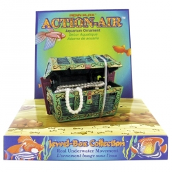 Penn Plax Action-Air Mini Treasure Chest Aerating Aquarium Ornament Image