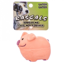 Rascals Latex Pig Dog Toy - Pink Image