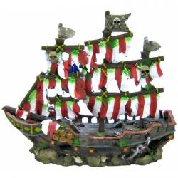 Penn Plax Striped Shipwreck Decoration Set - Medium Image
