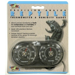 Zoo Med Precision Analog Reptile Thermometer & Humidity Gauge Image