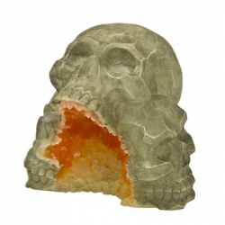 Exotic Environments Skull Mountain Geode Stone Aquarium Ornament Image