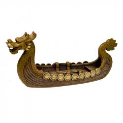 Exotic Environments Dragon Boat Aquarium Ornament - Gold Image