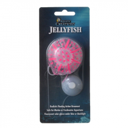 Aquatic Creations Glowing Jellyfish Aquarium Ornament - Pink Image