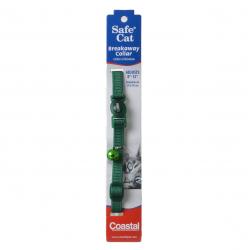 Coastal Pet Safe Cat Adjustable Nylon Breakaway Collar - Hunter Green Image