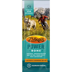 Zukes Power Bone Chicken & Cranberry Recipe Dog Treat Image