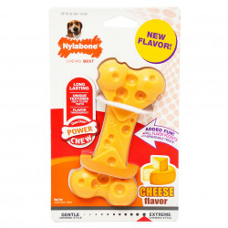 Nylabone Power Chew Cheese Bone Dog Toy - Wolf Image