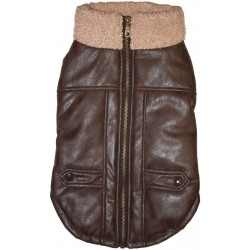 Fashion Pet Brown Bomber Dog Jacket Image