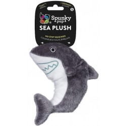 Spunky Pup Sea Plush Shark Dog Toy Image
