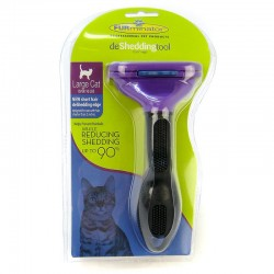 FURminator deShedding Tool with Fur Ejector for Cats Image