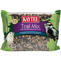 Kaytee Trail Mix Seed Cake with Nuts And Fruits For Wild Birds  Image