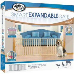 Four Paws Extra Wide Wood Safety Gate Image
